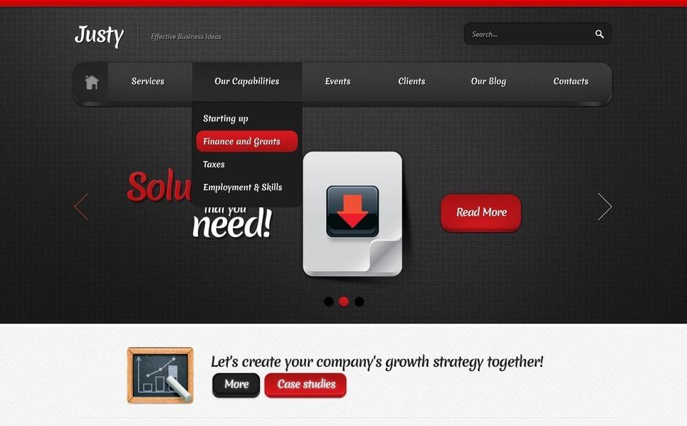 Üzlet és szolgáltatások Joomla sablon New Screenshots BIG