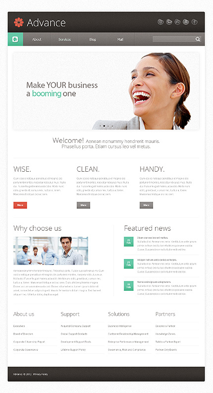 Drupal Template 38187 Main Page Screenshot