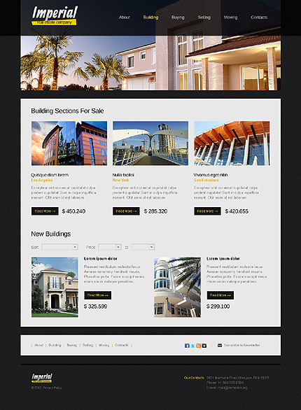 Template 38189 ( Building Page ) ADOBE Photoshop Screenshot