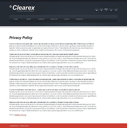 Template 38190 ( Privacy Policy Page ) ADOBE Photoshop Screenshot