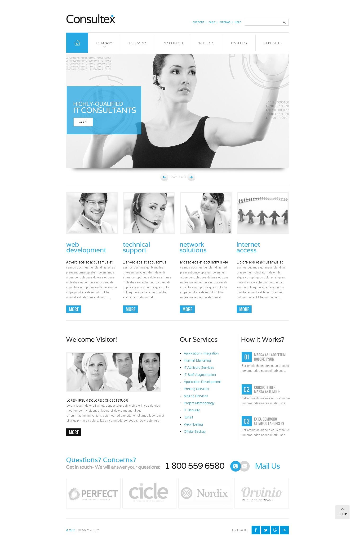 Modello siti web per un sito di comunicazioni for Siti web di costruzione domestica