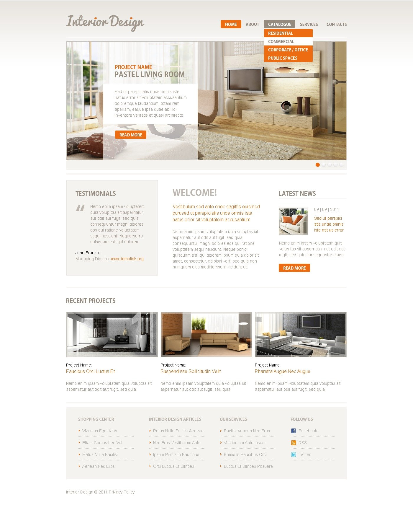 Interior design psd template 38126 for Interior design layout templates