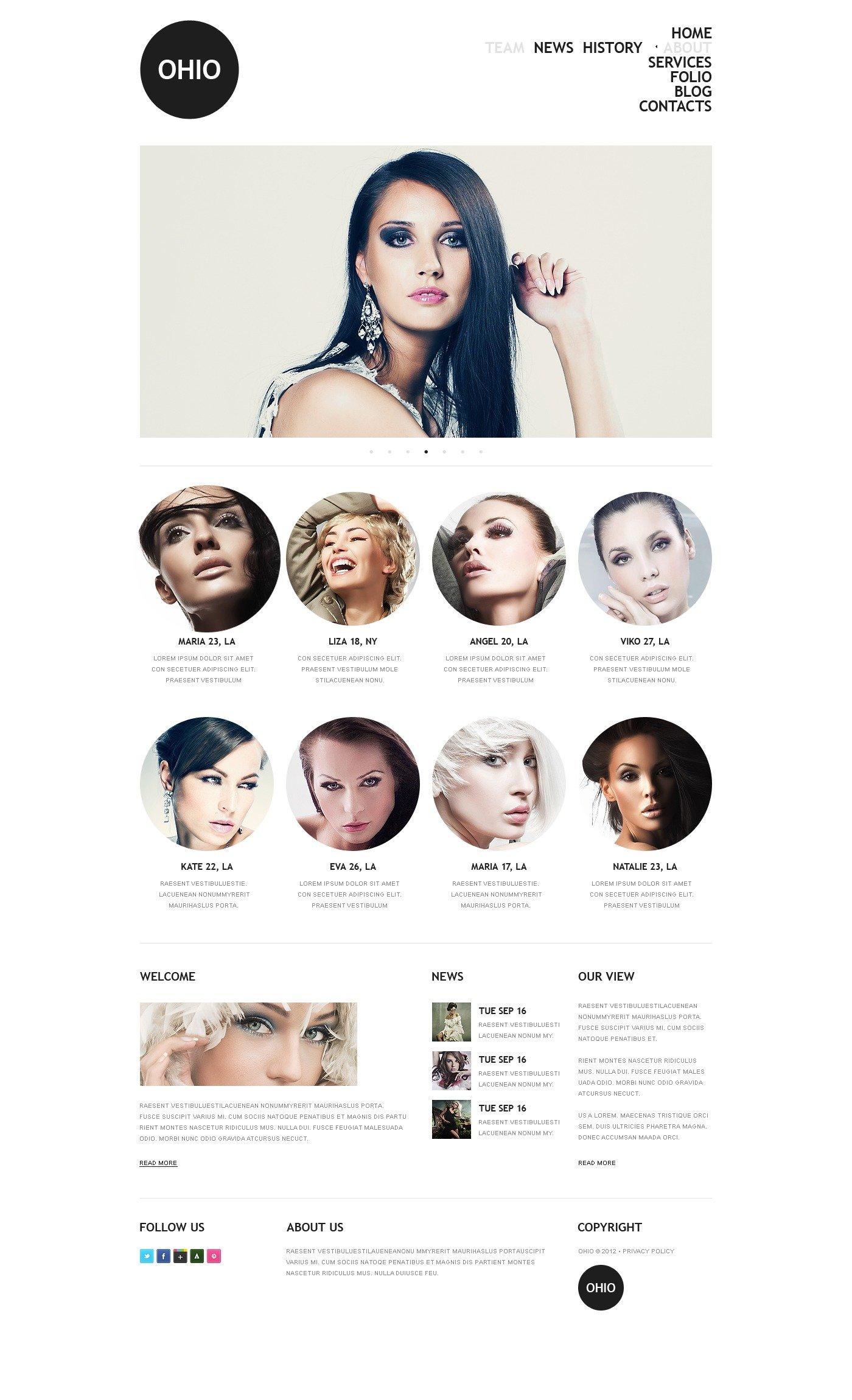 Joomla шаблон на тему модельне агентство №38100 - скріншот