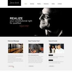Lawyer PSD Template - Lawyer website template