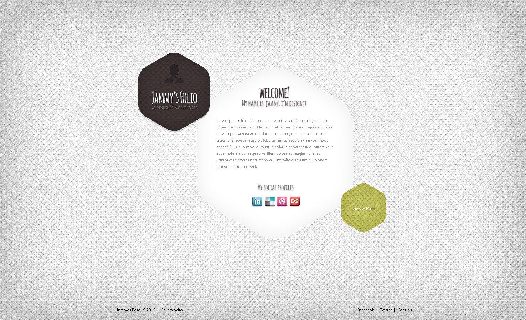 Template siti web 38198 per un sito di portfolio di designer for Sito di design