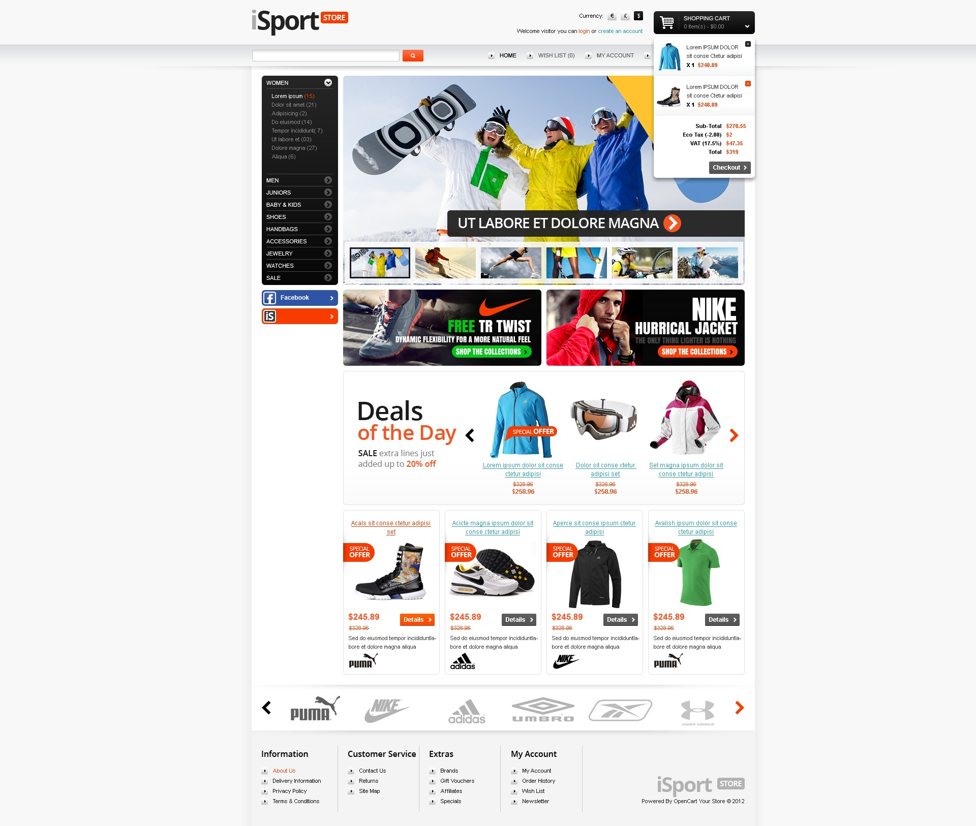opencart bookstore template - sports store opencart template 38182