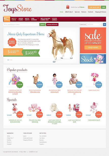 osCommerce Template 38203 Main Page Screenshot