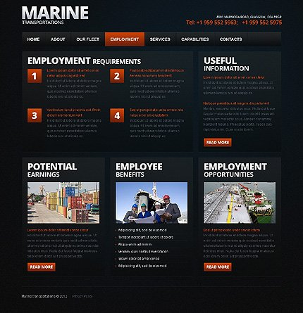 Template 38205 ( Employment Page ) ADOBE Photoshop Screenshot