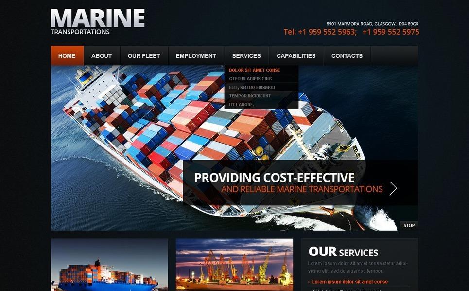 Plantilla Web #38205 para Sitio de  marítimas New Screenshots BIG