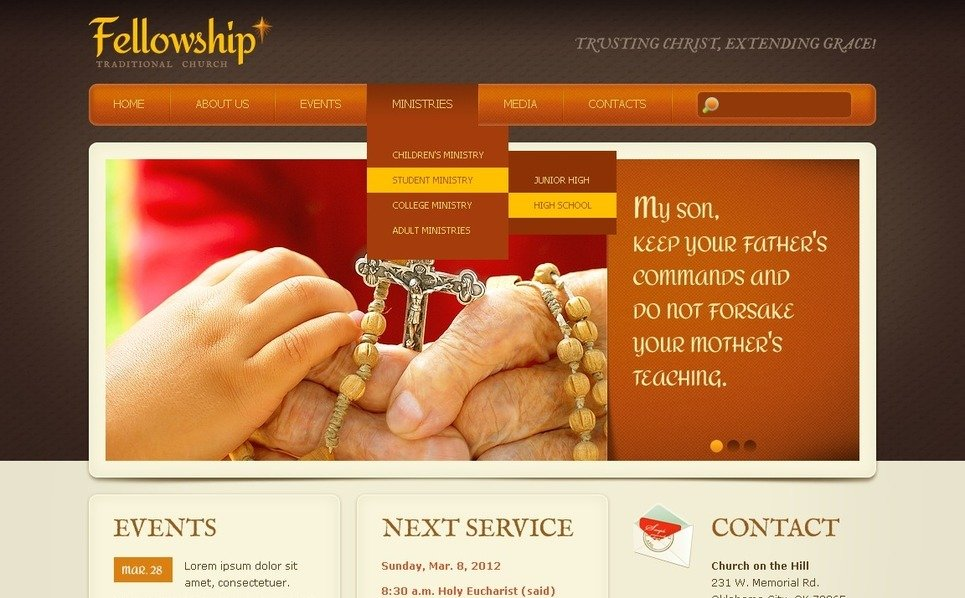 Tema Siti Web  #38217 per Un Sito di Cristianismo New Screenshots BIG