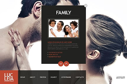 Template 38226 ( Family Page ) ADOBE Photoshop Screenshot