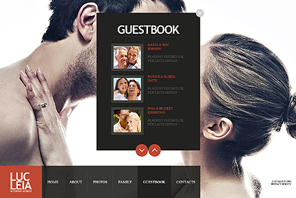 Template 38226 ( Guestbook Page ) ADOBE Photoshop Screenshot