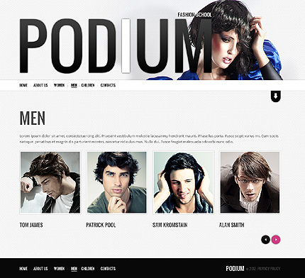 Template 38227 ( Men Page ) ADOBE Photoshop Screenshot