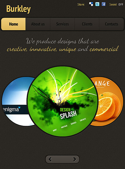 ADOBE Photoshop Template 38244 Home Page Screenshot