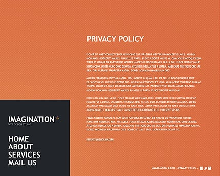 Template 38265 ( Privacy Policy Page ) ADOBE Photoshop Screenshot