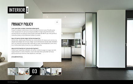 Template 38273 ( Privacy Policy Page ) ADOBE Photoshop Screenshot