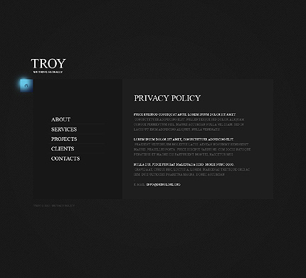 Template 38276 ( Privacy Policy Page ) ADOBE Photoshop Screenshot