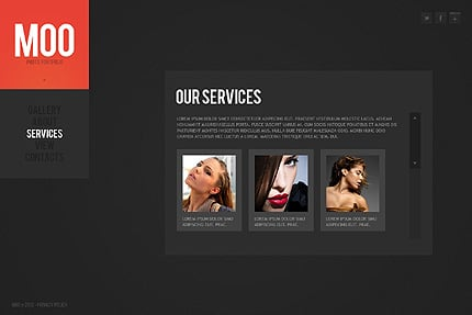 Template 38282 ( Services Page ) ADOBE Photoshop Screenshot