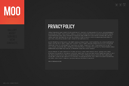 Template 38282 ( Privacy Policy Page ) ADOBE Photoshop Screenshot