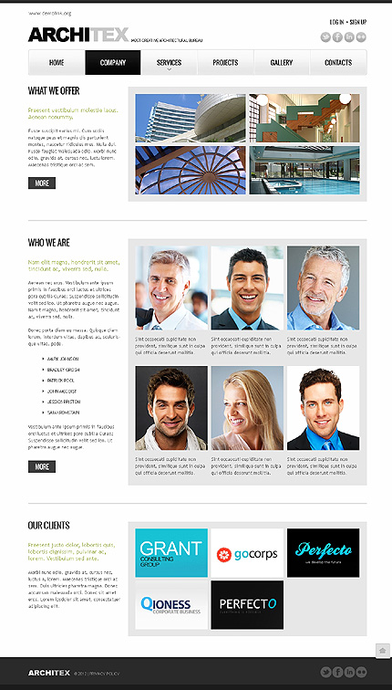 Template 38283 ( Company Page ) ADOBE Photoshop Screenshot