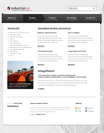 Template 38285 ( Services Page ) ADOBE Photoshop Screenshot