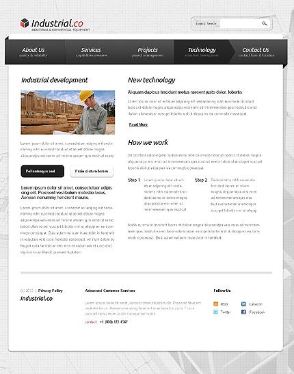 Template 38285 ( Technology Page ) ADOBE Photoshop Screenshot