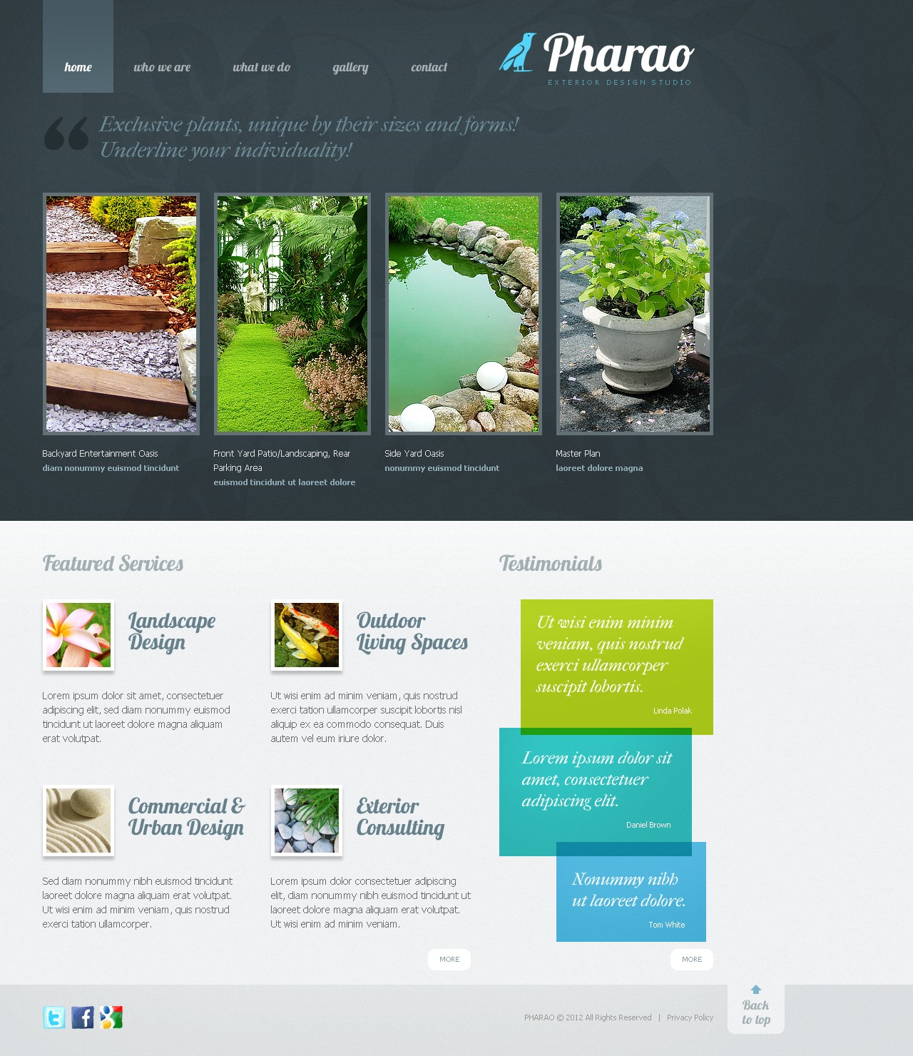 Exterior design website template 38215 for Exterior design website templates