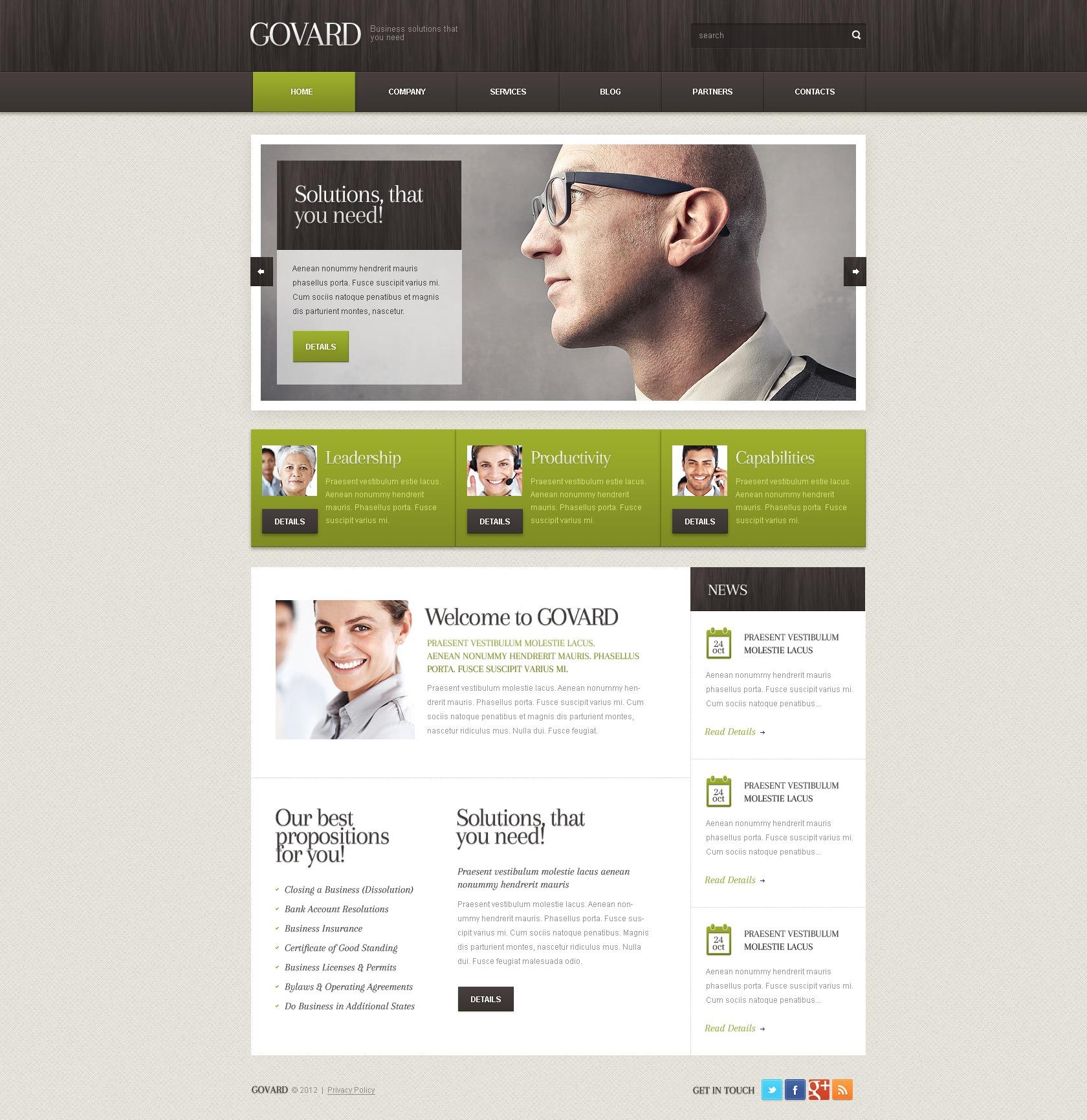 Tema De WordPress #38291 para Sitio de Negocio y Servicios - captura de pantalla