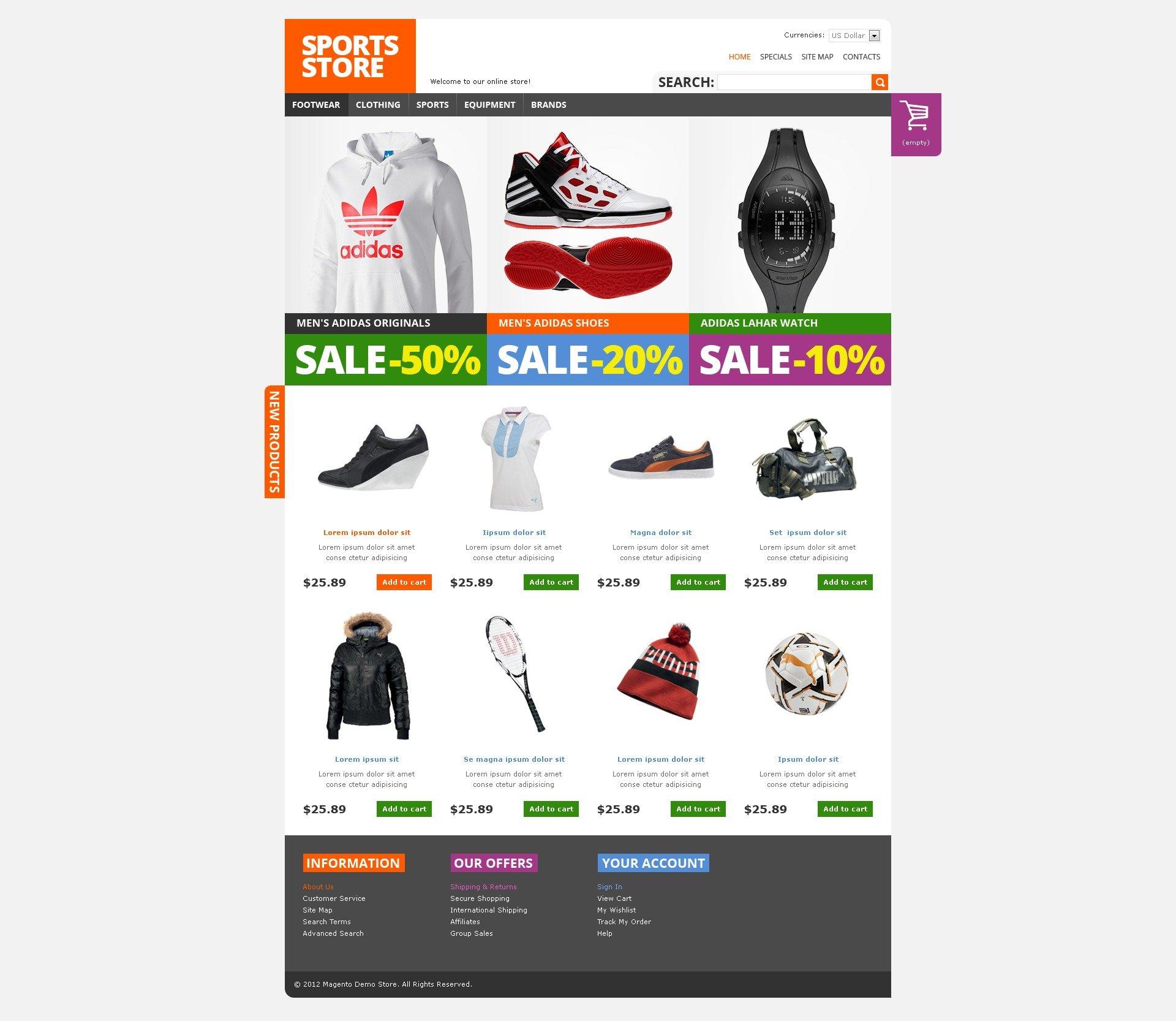 239577a3b Tema Magento para Sites de Loja de Esporte №38240