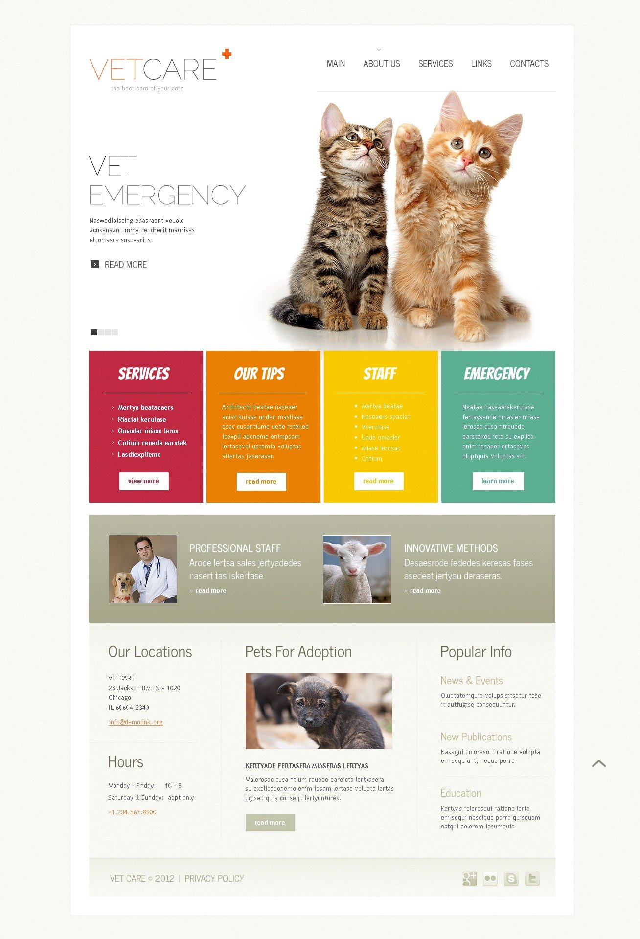 vet website template  38270