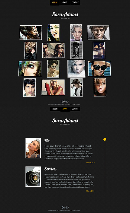 ADOBE Photoshop Template 38304 Home Page Screenshot