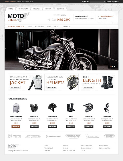 osCommerce Template 38313 Main Page Screenshot