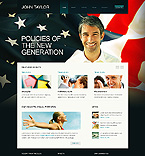 Politics Website  Template 38334