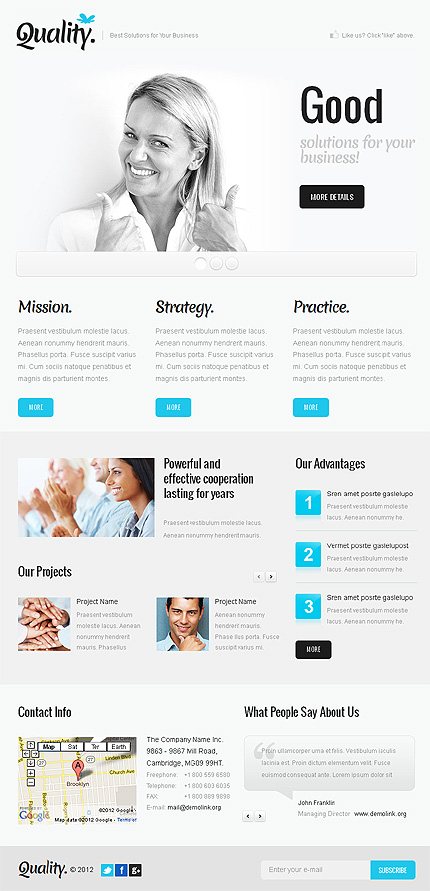 ADOBE Photoshop Template 38346 Home Page Screenshot
