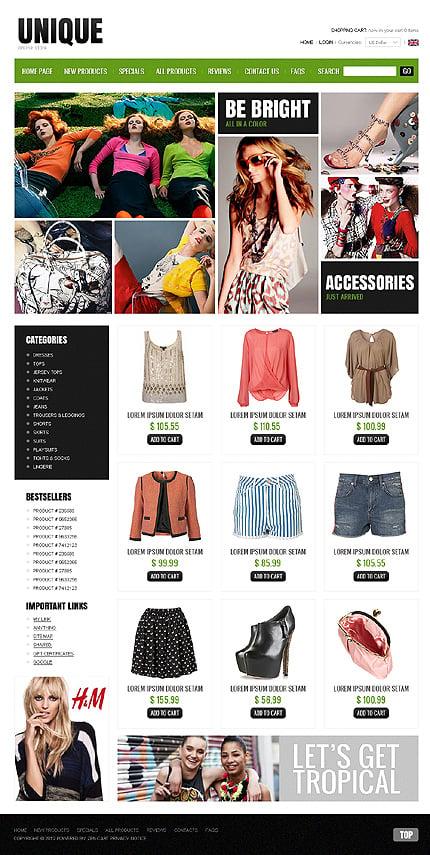 ZenCart Template 38349 Main Page Screenshot