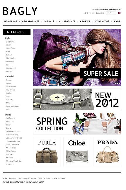 ZenCart Template 38350 Main Page Screenshot