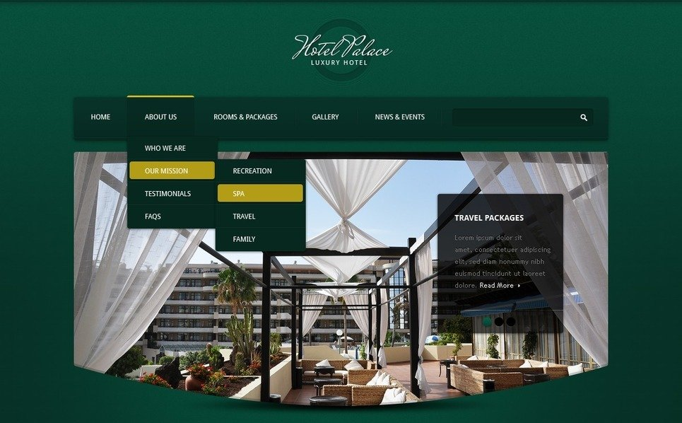 Drupal Vorlage für Hotels  New Screenshots BIG