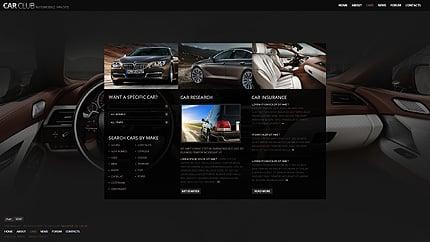 Template 38362 ( Cars Page ) ADOBE Photoshop Screenshot