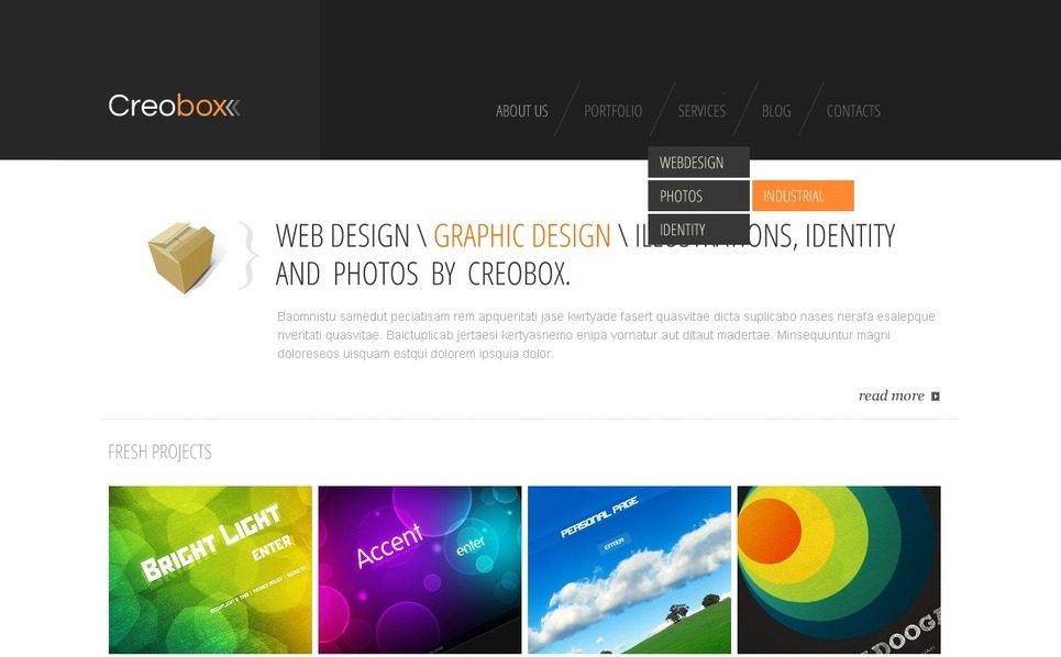 Thème Joomla  pour site de design web New Screenshots BIG
