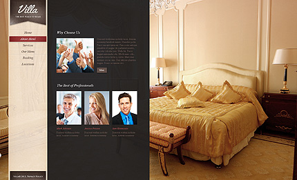 Template 38394 ( About hotel Page ) ADOBE Photoshop Screenshot