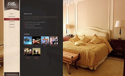 Template 38394 ( Services Page ) ADOBE Photoshop Screenshot