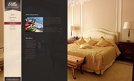 Template 38394 ( Our menu Page ) ADOBE Photoshop Screenshot