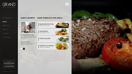 Template 38395 ( Menu Page ) ADOBE Photoshop Screenshot