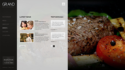 Template 38395 ( Events Page ) ADOBE Photoshop Screenshot