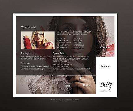 Template 38396 ( Resume Page ) ADOBE Photoshop Screenshot