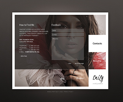 Template 38396 ( Contacts Page ) ADOBE Photoshop Screenshot