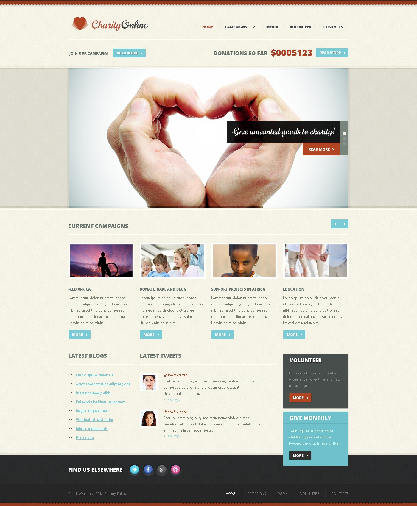 Child Charity Website Template 38375