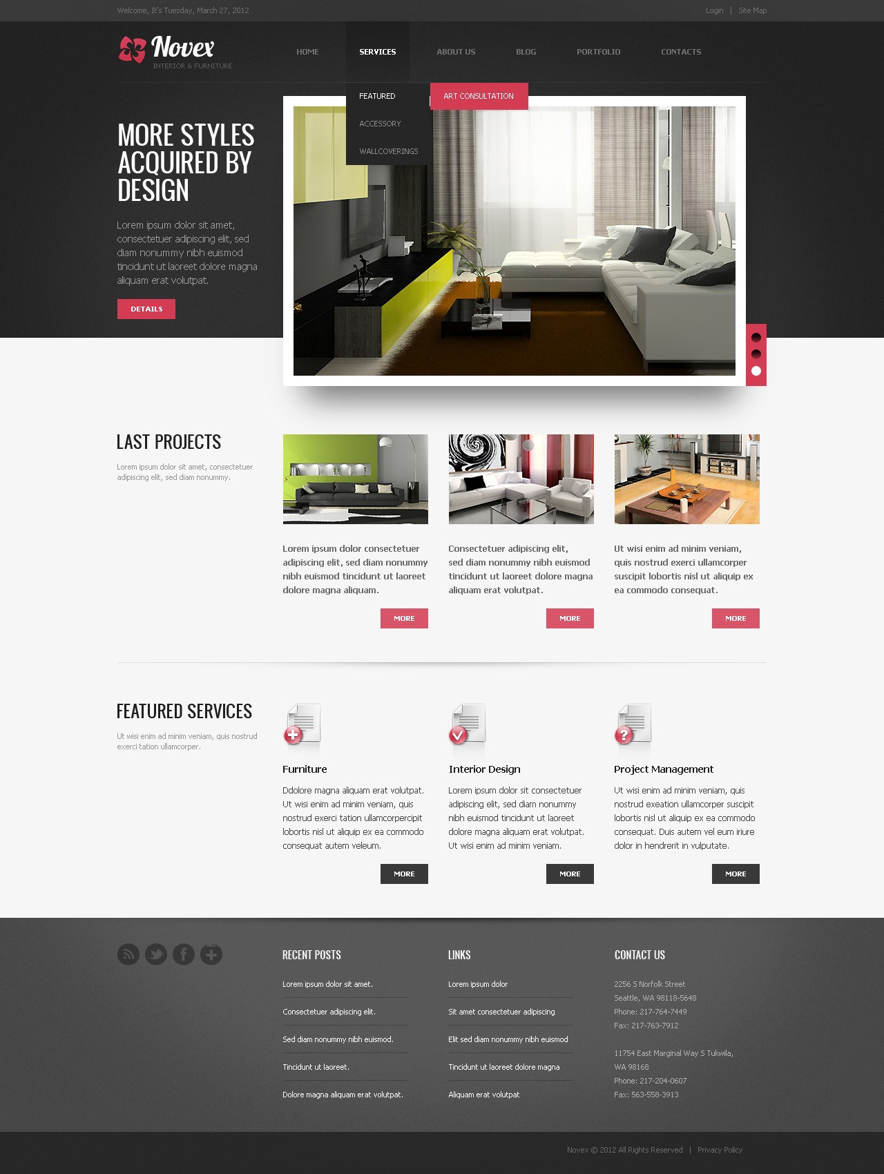 interior design drupal template  38315