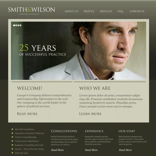 Smith Wilson - Responsive Lawyer Website Template