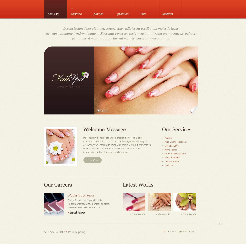 Nail Salon Website Template 38371